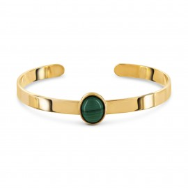 Bracelet Rigide Malachite