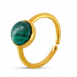Bague Calipso malachite vert