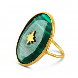 Bague Tenerife Malachite